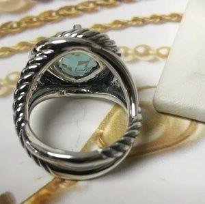 David Yurman Jewelry - 🦋David Yurman🦋 Infinity Prasiolite ring size 7
